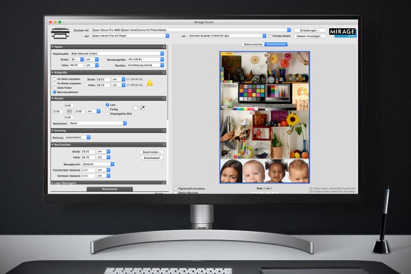 mirage oprogramownaie wspierające druk atramentowy